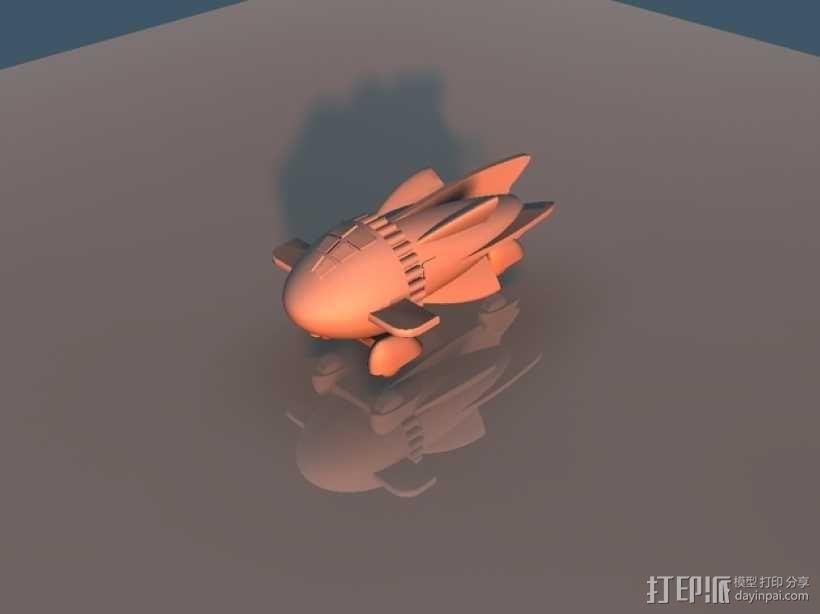 飞侠哥顿 飞船 3D模型  图1