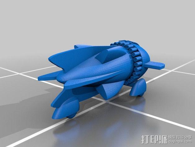 飞侠哥顿 飞船 3D模型  图2