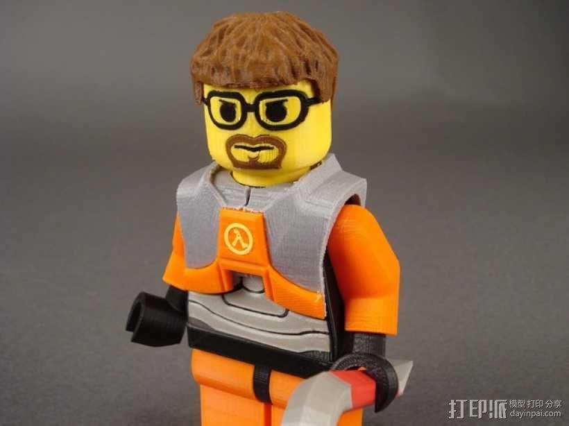 Gordon Freeman戈登·弗里曼 人物模型 3D模型  图2