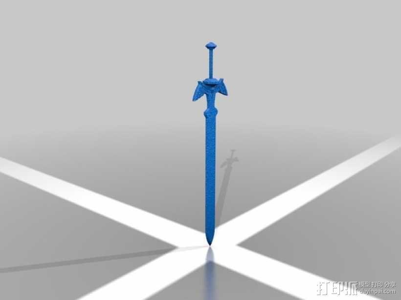 塞尔达传说 大师之剑 3D模型  图1