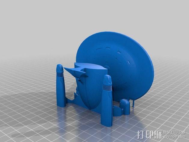 星际迷航太空飞船 3D模型  图2