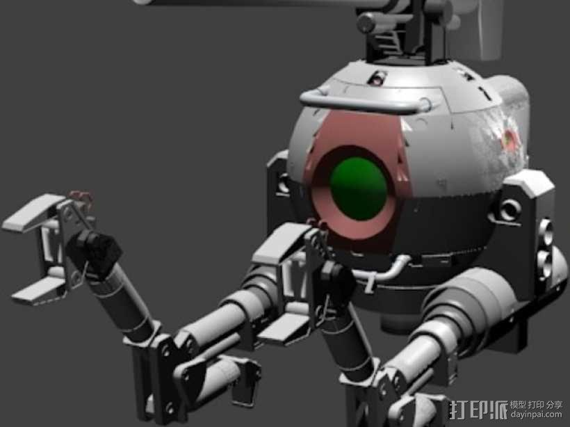 Ball Pod行摄器 3D模型  图2