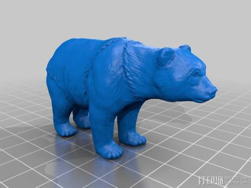 熊猫 3D模型  图1