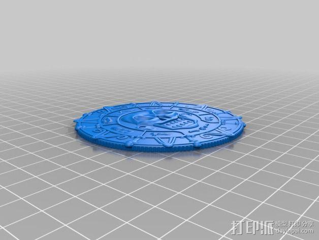 加勒比海盗铅笔徽章 3D模型  图2