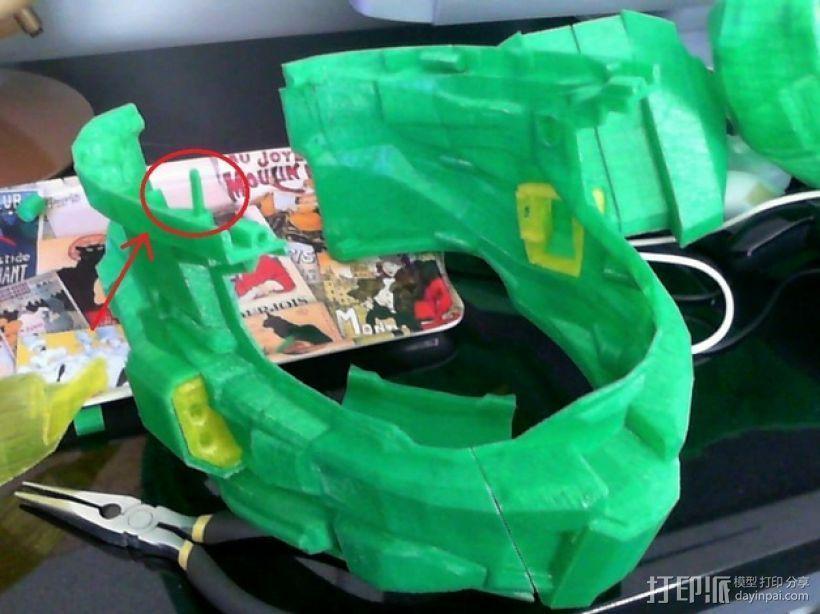 光晕头盔零部件 3D模型  图1