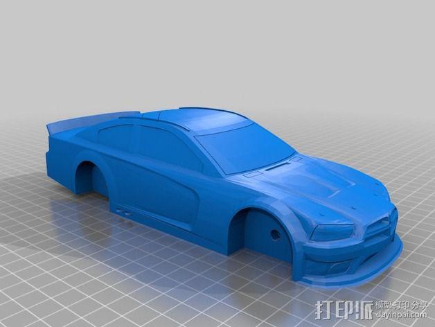 Charger赛车模型 3D模型  图3