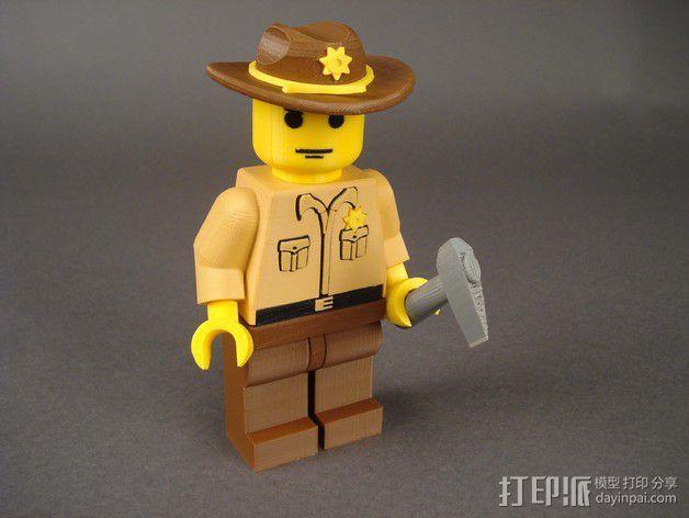 Rick Grimes人物模型 3D模型  图1