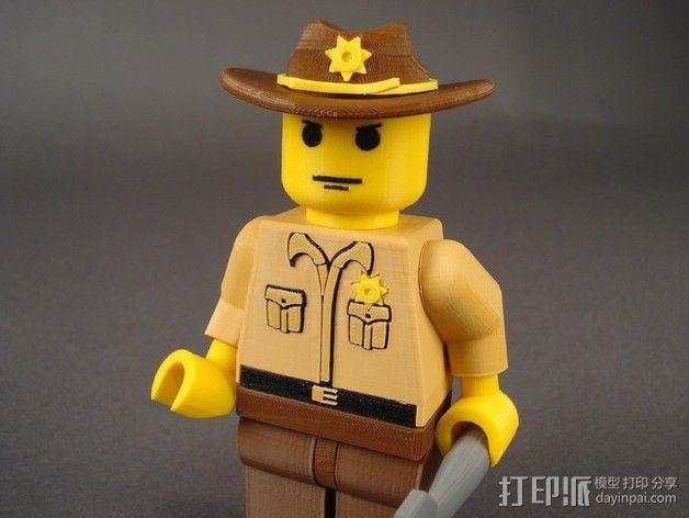 Rick Grimes人物模型 3D模型  图2
