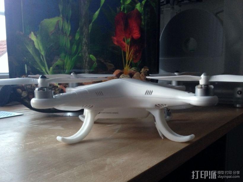 DJI Phantom 四轴航拍飞行器 3D模型  图1