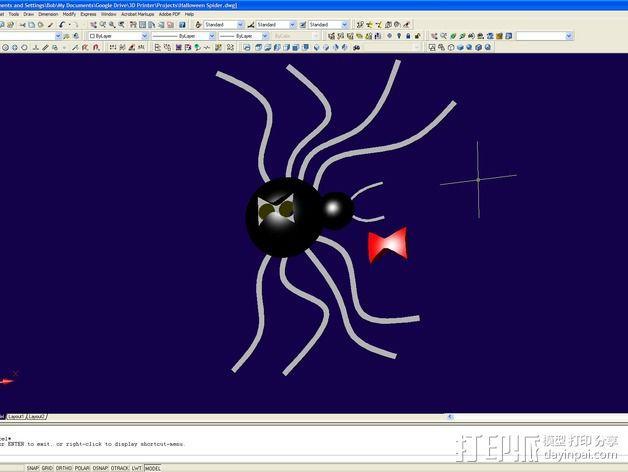 黑寡妇毒蜘蛛 3D模型  图5