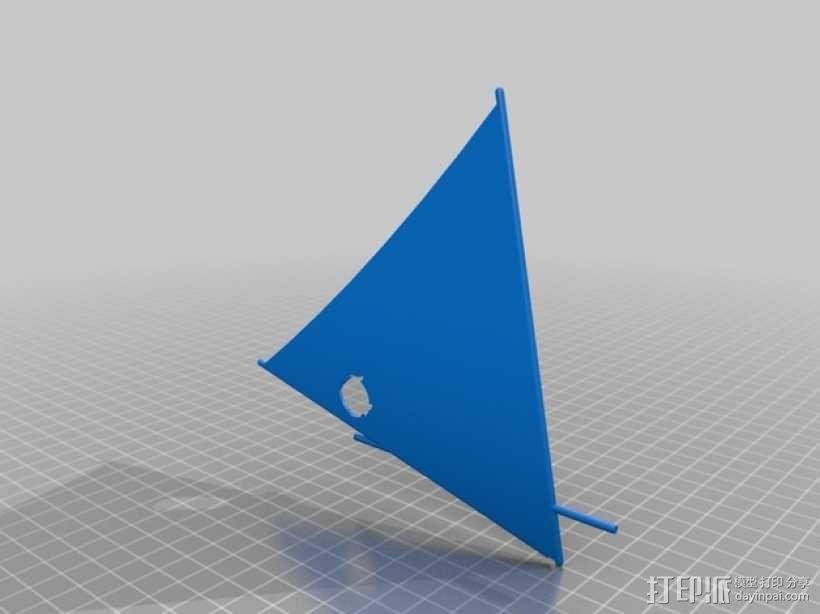 翻车鱼帆船 3D模型  图3