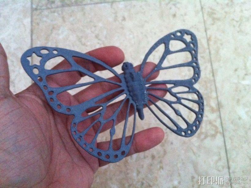 帝王斑蝶 3D模型  图1