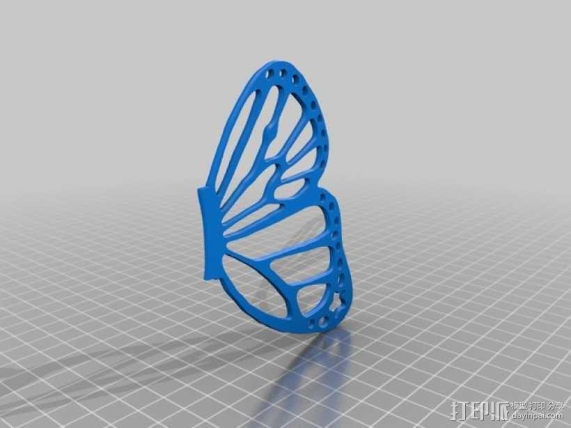 帝王斑蝶 3D模型  图3