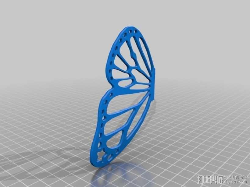 帝王斑蝶 3D模型  图4