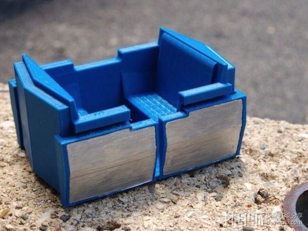 明日之地运输车座位 3D模型  图1