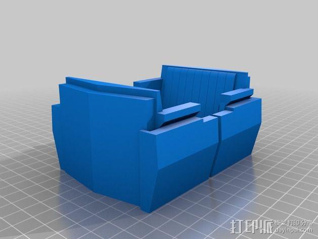明日之地运输车座位 3D模型  图2