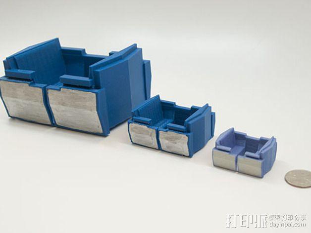 明日之地运输车座位 3D模型  图3