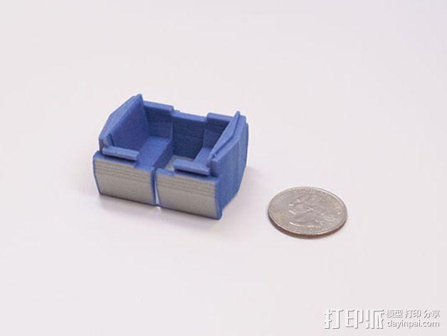 明日之地运输车座位 3D模型  图5