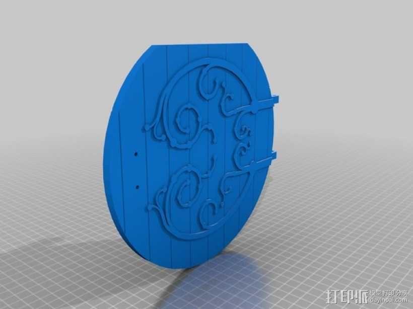 圆木门 3D模型  图1