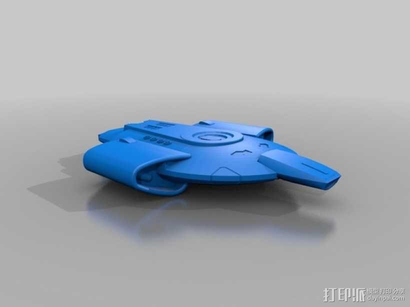 Defiant-Nx-74205勇抗号联邦星舰 3D模型  图1