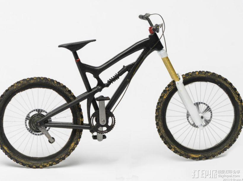 Santa Cruz Nomad自行车 3D模型  图1