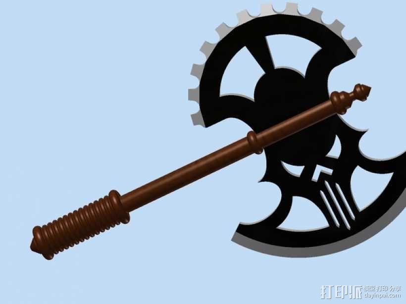 Mid-Evil斧子模型 3D模型  图1