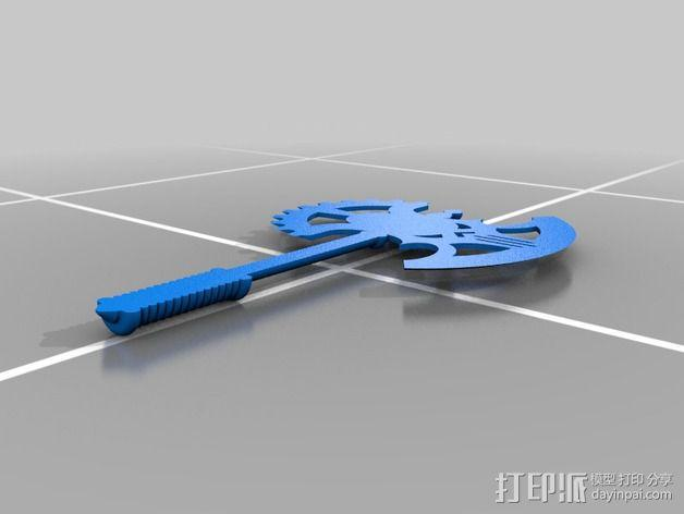 Mid-Evil斧子模型 3D模型  图3