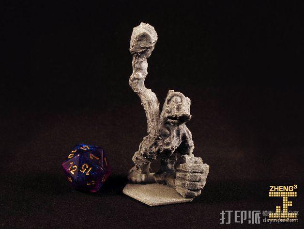 岩石青蛙 3D模型  图1