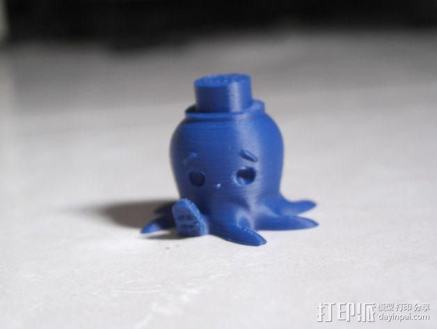 戴礼帽的章鱼 3D模型  图5