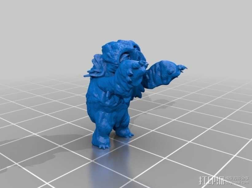 小枭熊 3D模型  图2