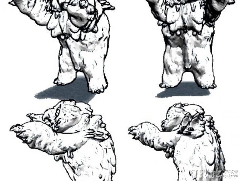 小枭熊 3D模型  图1