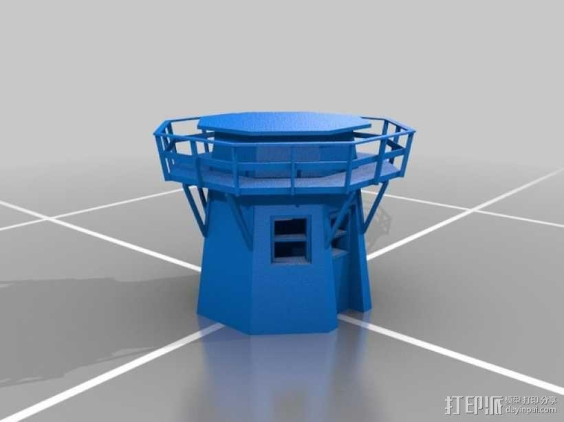 荷兰风车 3D模型  图2