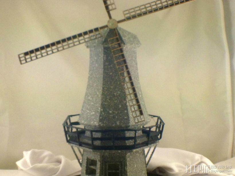 荷兰风车 3D模型  图1