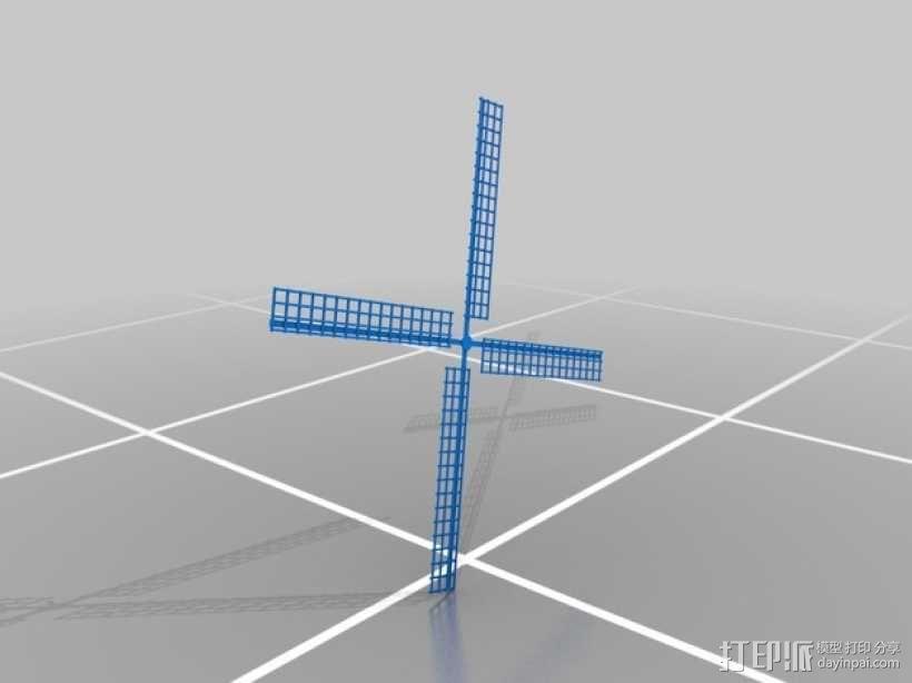 荷兰风车 3D模型  图4