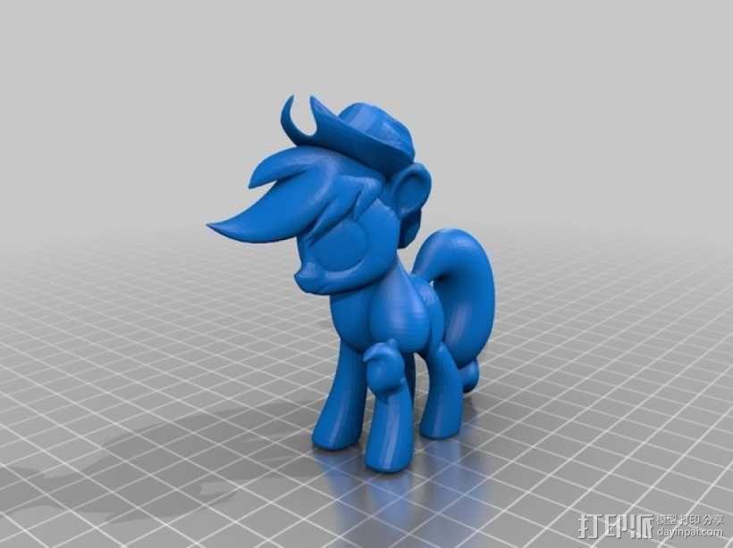 我的小马驹 Applejack模型 3D模型  图1