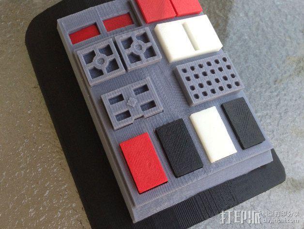 钛战机飞行员通信板 3D模型  图3