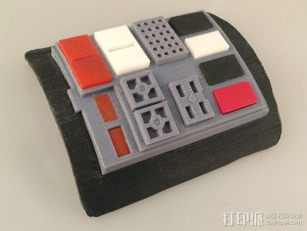 钛战机飞行员通信板 3D模型  图2