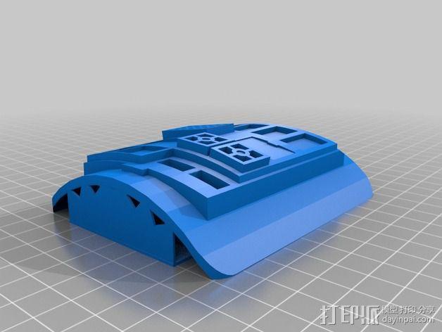 钛战机飞行员通信板 3D模型  图5