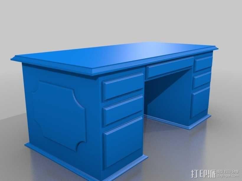 办公桌 3D模型  图1