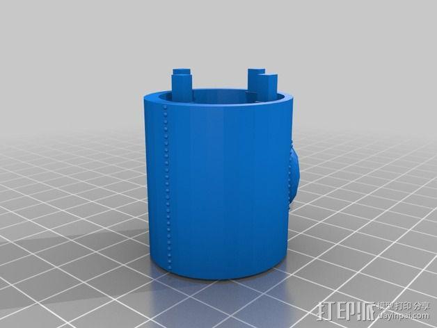 火箭排气管 3D模型  图2