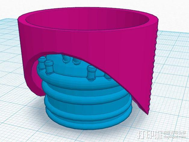 火箭排气管 3D模型  图1