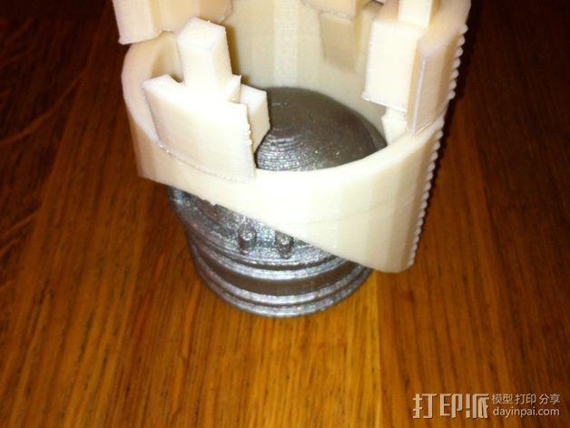 火箭排气管 3D模型  图4