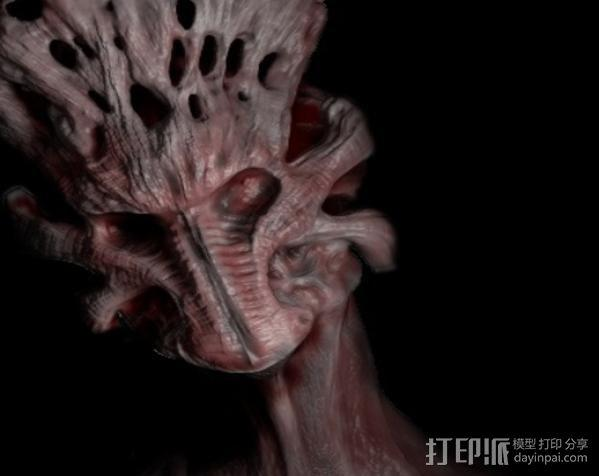 Demon头部模型 3D模型  图1