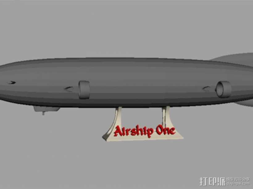 齐柏林硬式飞艇 3D模型  图1