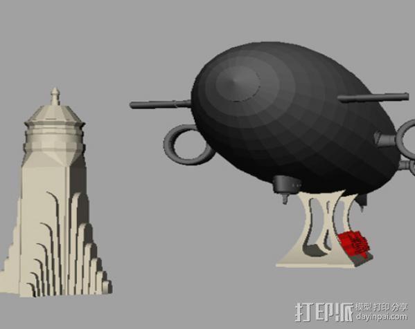 齐柏林硬式飞艇 3D模型  图3