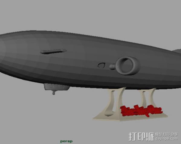 齐柏林硬式飞艇 3D模型  图2