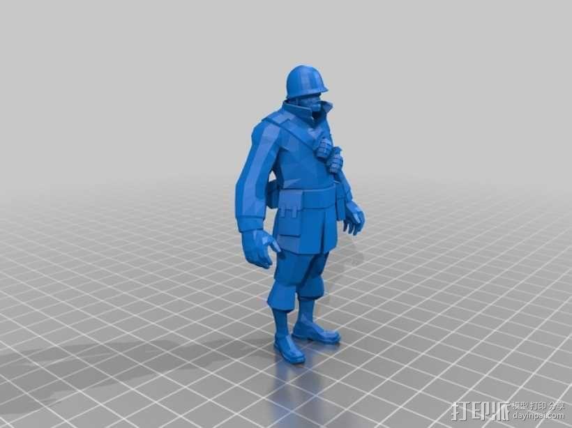 军团要塞士兵模型 3D模型  图1
