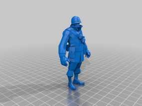 军团要塞士兵模型 3D模型