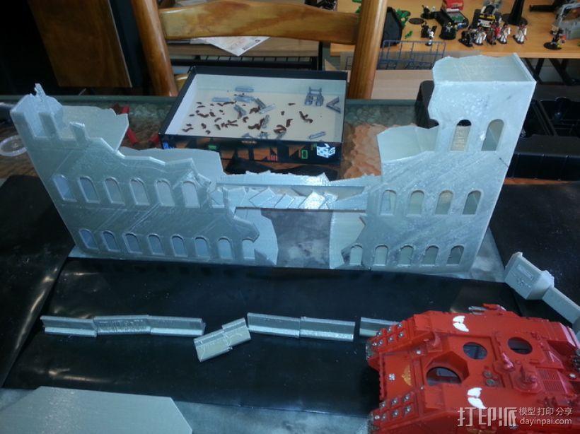 废墟建筑模型 3D模型  图1