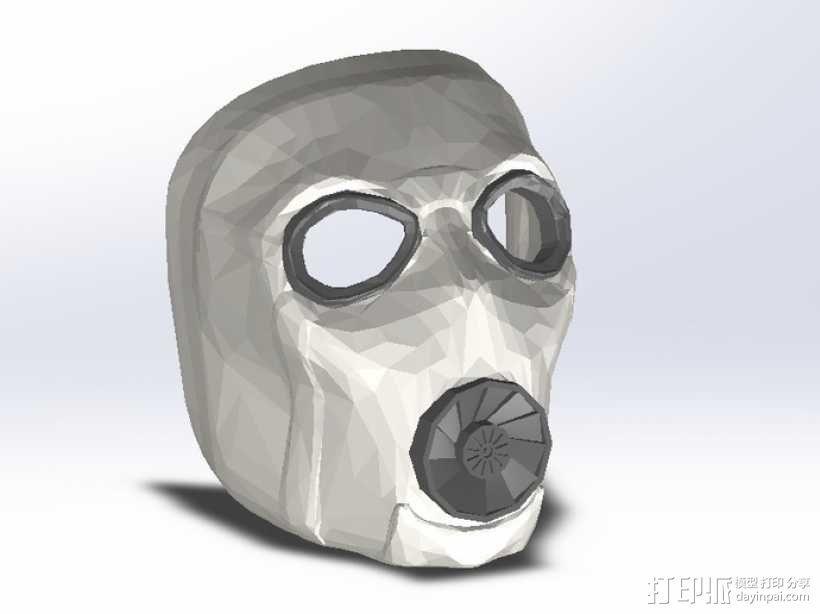 无主之地2Psycho面具 3D模型  图1
